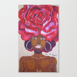 Beautiful as a Rose Canvas Print