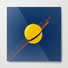 #033 Rocket to the moon!!! Metal Print