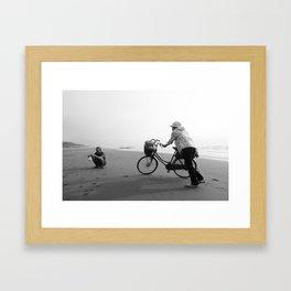 Sunrise Bicycle Breakfast Framed Art Print