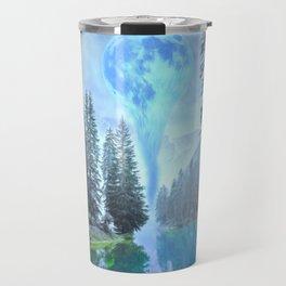 Melting Blue Moon Travel Mug