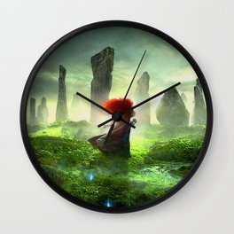 Merida The Brave - Portrait Merida Walking Wall Clock