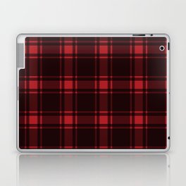 Minimalist Middleton Tartan in Red + Black Laptop & iPad Skin