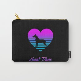 Great Dane Love Cyberpunk Vaporwave Dog Puppy Gift Carry-All Pouch