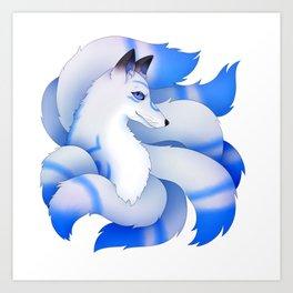 Kitsune Edan Art Print