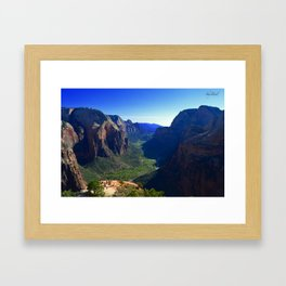 Top of Angel's Landing-Utah Framed Art Print