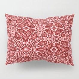 Autumn Crimson Red And White Pillow Sham