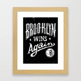 Brooklyn Wins Again (Away) Framed Art Print
