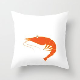 Best gift for person who loves seafoods, shrimp lovers, marines and fishers You're Shrimply the Best Throw Pillow