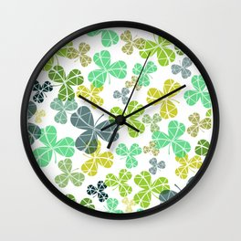 Clover Leaf Wall Clock