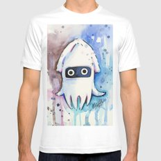 Blooper Watercolor Mario Art MEDIUM Mens Fitted Tee White
