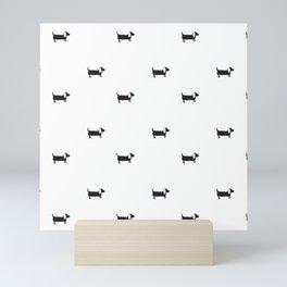 Dachshunds pattern Mini Art Print