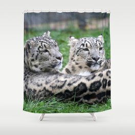 Aqua_Leopard_20180106_by_JAMColorsSpecial Shower Curtain