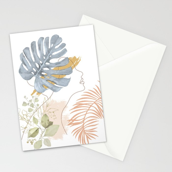 Line in Nature III Stationery Cards