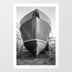 Shipyard Boat II Art Print