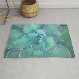 Moody Blues Succulent Series by Hxlxynxchxle- Style 2 Rug