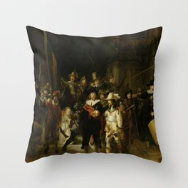 Rembrandt's The Night Watch Throw Pillow