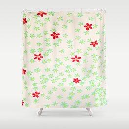 Simple flower doodle Shower Curtain