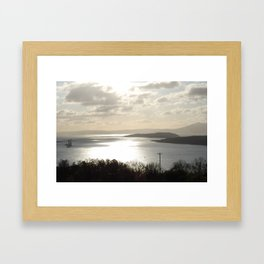 Looking to Millport and the wee Cumbrae Framed Art Print