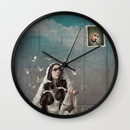 The Concrete Room Wall Clock