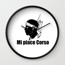 flag of corsica 7– corsican,tête de maure,île de beauté,ajaccio, bastia, aiacciu. Wall Clock