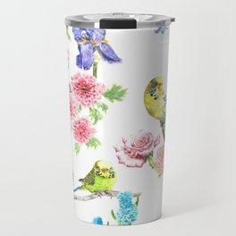 Budgies and Blooms Travel Mug