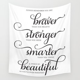Always Remember - Printable art wall decor, Inspirational quote Wall Tapestry