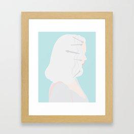 Hairgrips On Mint Framed Art Print