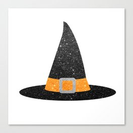 Glitter Witch Hat Canvas Print