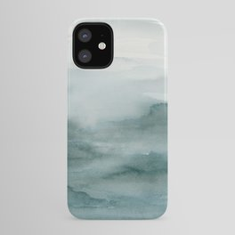 Abstract Watercolor Landscape in Green iPhone Case