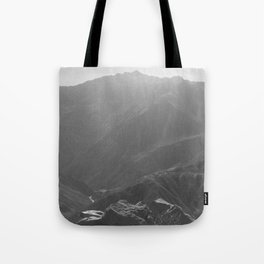 Top of the Rockies B&W Tote Bag
