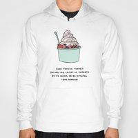 snl Hoodies featuring Frozen Yogurt by Liana Spiro