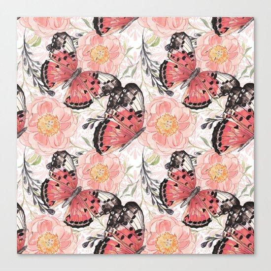 Flowers & butterflies #3 Canvas Print