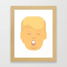 Trumpation - Orange Framed Art Print