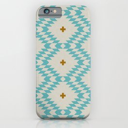 NATIVE NATURAL PLUS TURQUOISE iPhone Case