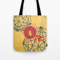 spider Tote Bags featuring SPIDER by Armin Barducci