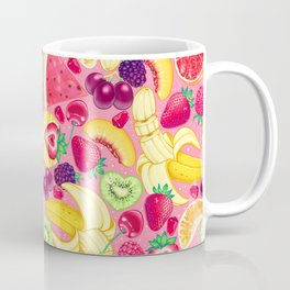 Fruit Cocktail on Pink Coffee Mug