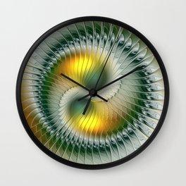 Like Yin and Yang, Abstract Fractal Art Wall Clock
