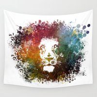 lion king Wall Tapestries featuring Lion King by jbjart