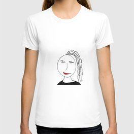 Girl with plait T-shirt