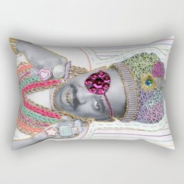 Embroidered Slick Rick Rectangular Pillow