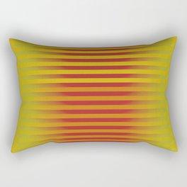 Yellow Orange Red Generative Stripes Rectangular Pillow