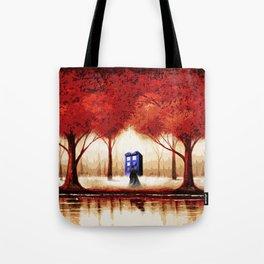 Tardis Cloud - Red Tote Bag