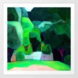 Francis Picaba Landscape at Cassis Art Print