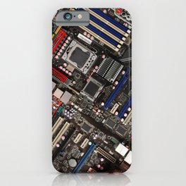 Computer motherboard iPhone Case