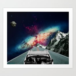 Trippin Outer Space Art Print