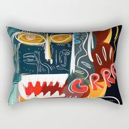 Street art I'm not scared Rectangular Pillow