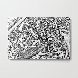 bleached Metal Print