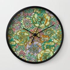 Blooming Succulents Wall Clock
