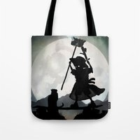 gandalf Tote Bags featuring Gandalf Kid by Andy Fairhurst Art