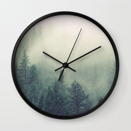 My Peacful Misty Forest Wall Clock